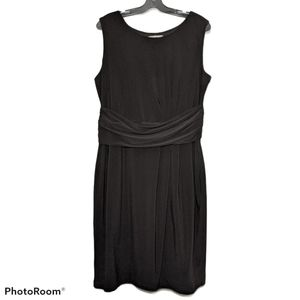 Joseph Ribkoff Black Pleated Sleeveless Dress 18